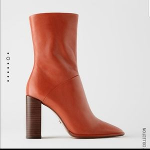 Zara Mid Ankle Leather Boots
